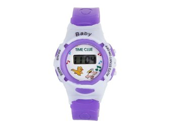Härlig Cartoon Kids Armbandsur Barn LED Digital sportklockor Gummi silikonband n