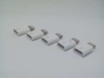 5st Micro USB till iPhone 8-pin adapter