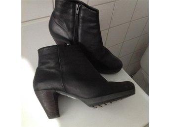Boots, svart skinn, stl 41/5 (37), Högl Österrikisk kvalitetsskor - Halmstad - Boots, svart skinn, stl 41/5 (37), Högl Österrikisk kvalitetsskor - Halmstad