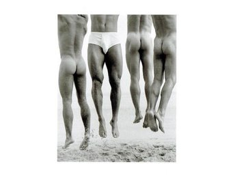 "Vykort ""Jump, Paradise Cove 1987"" Herb Ritts"
