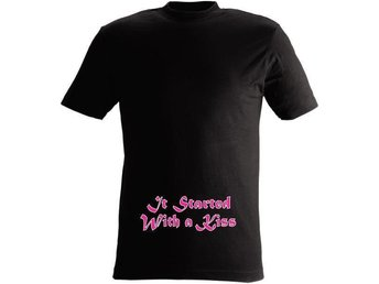 T-SHIRT It started with a kiss nr 12  Large Svart