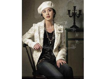 (SKU00165)Beret Women Lady Winter Warm Knitted Crochet Slouch Baggy Hat(White)