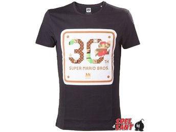 Nintendo Super Mario Bros 30th Anniversary T-Shirt Svart (Small)