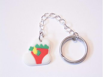 Jul strumpa nyckelring / Christmas stocking keyring