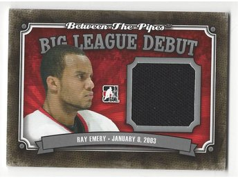 177. 2013-14 Between the Pipes Big League Debut Jerseys Silver #BLD16 Ray Emery1 - Sandared - 177. 2013-14 Between the Pipes Big League Debut Jerseys Silver #BLD16 Ray Emery1 - Sandared