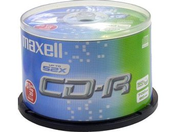 CD-R 80 Maxell 52x Insp. CD-R 50-pack/Cakebox