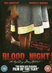 *DVD*/ BLOOD NIGHT/ THE LEGEND OF MARY HATCHET/18 ÅR/ SKRÄCK