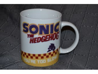 "Sonic The Hedgehog Mugg Kopp Klassisk (320ml) ""You're Too Sl"