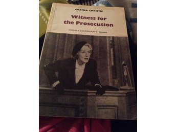 AGATHA CHRISTIE -WITNESS FOR THE PROSECUTION -BOK