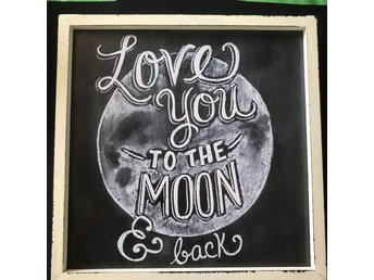 "Tavla ""love you to the moon and back"" nyvara"