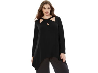SVART CUT OUT TUNIKA 48 - 50 XXL - 3XL