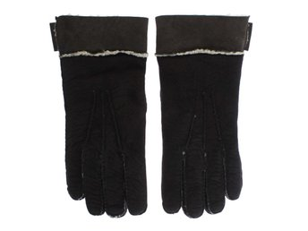 Dolce & Gabbana - Brown Leather Shearling Gloves