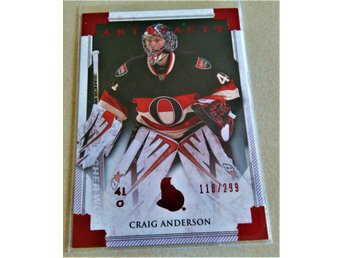 2013-14 UD Artifacts Ruby #108 Craig Anderson /299