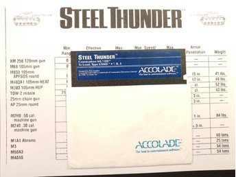 Steel Thunder på DISKETT till Commodore 64 / 128 | C64 / C128