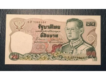 Thailand 20 Baht type from the 1980s. Rama IX. Kval. 0, UNC