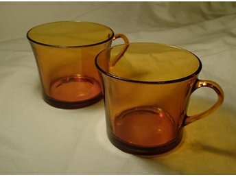 Servis i gulbrunt glas - Hällingsjö - Servis i gulbrunt glas - Hällingsjö