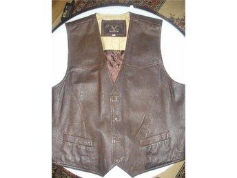 Vest i äkta läder/ skinn, mörkbrun, stl.XL ,JACK &JONES - Kävlinge - Vest i äkta läder/ skinn, mörkbrun, stl.XL ,JACK &JONES - Kävlinge