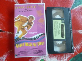 GREAT BALLS OF FIRE!, VHS, SVENSK TEXT, ROCK, DRAMA, FILM