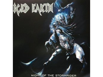 Iced Earth -Night of the stormri LP 2015 release with poster