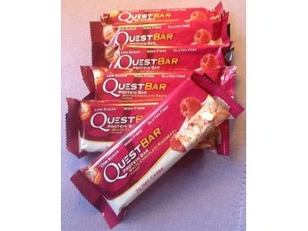 6 st Quest Bar, 60g, White Chocolate Raspberry PROTEINBARER från Gymgrossisten - Uddevalla - 6 st Quest Bar, 60g, White Chocolate Raspberry PROTEINBARER från Gymgrossisten - Uddevalla
