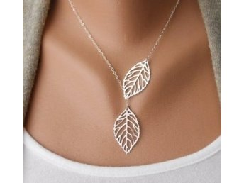 Löv halsband / Fashion Leaves Necklace Clavicle Chain