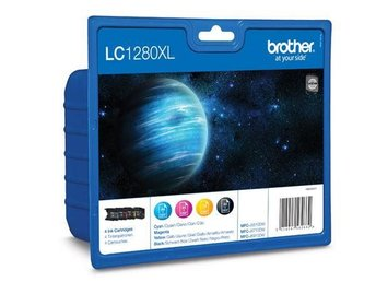 FP Brother LC1280XL Value Pack Black (2400sid.), Cyan, Magenta, Yellow (1200sid.