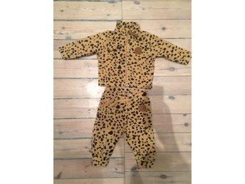 mini rodini leopard overall