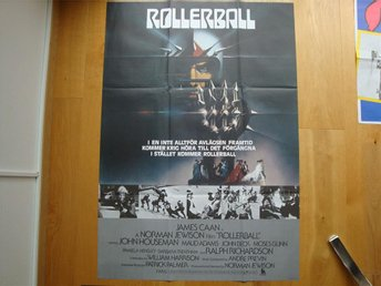 ROLLERBALL 70x100 1975 James Caan, Maud Adams