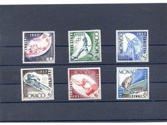 Monaco Olympiadserie Helsinki 1952 ostämplad kpl serie 6st - Lenhovda - Monaco Olympiadserie Helsinki 1952 ostämplad kpl serie 6st - Lenhovda
