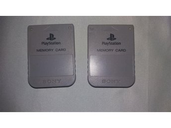 Sony Playstation Memory Card, Minneskort x 2