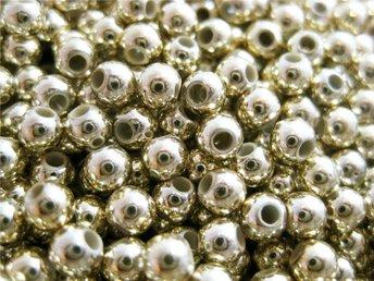 500 skimrande guldfärgade akrylpärlor 4 mm - Ellös - 500 skimrande guldfärgade akrylpärlor 4 mm - Ellös