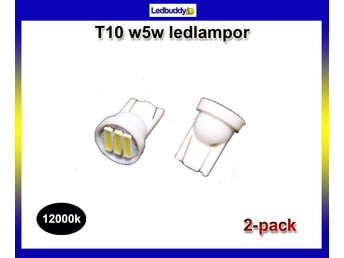 T10 12000k Led med 3st SMD7020 chip 2-pack w5w styling xenonlook