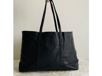 WERA STOCKHOLM Väska Tote Bag 100% Läder Skinnväska Läderbag