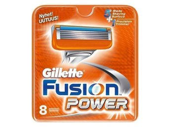 Gillette Fusion Power 8-pack rakblad ORIGINAL 100% garanti!