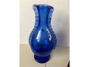 Antik karaff / flaska blå glas - ånimskog - Antik karaff / flaska blå glas - ånimskog
