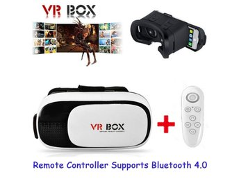 VR Headset BOX 2.0 Goggles 3D Glasses Cardboard+Remote