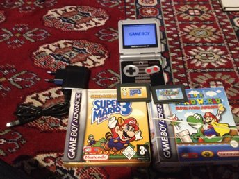 Game Boy Advance SP NES Edition+Super Mario Bros 3+Super Mario World