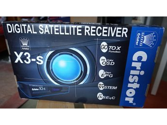Cristor X3-S Digital satellite Receiver Ny i kartong