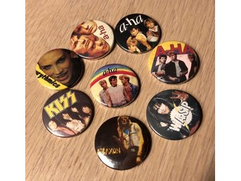 Pins, badges, knappar, badges, knappar, nålmärken