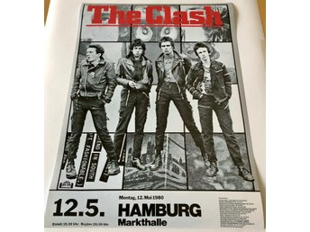 THE CLASH HAMBURG MARKTHALLE GERMANY 1980 POSTER