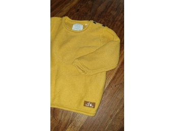 Zara gul stickad bomullströja ca 86. 9 12 mån (376220480) ᐈ