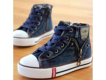 Barnskor strl 29 Denim Jeans Zipper skor for children