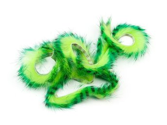Tiger Rabbit Zonker Strips - Green Bl...