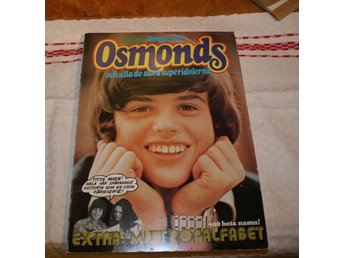 OSMONDS BOKEN OM OSMONDS 128 SIDOR. STORFORMAT