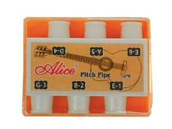 OUTLET - total - Alice GP6 Guitar Pitch Pipe -Tuner Note Selector - Vaggeryd - Alice GP6 Guitar Pitch Pipe -Tuner Note SelectorSmall device with plastic housing, sturdy and durable. Small enough to hold in hand, light weight and easy to carry around. Provides a pitch reference for guitarists. Applying in developing an ear - Vaggeryd