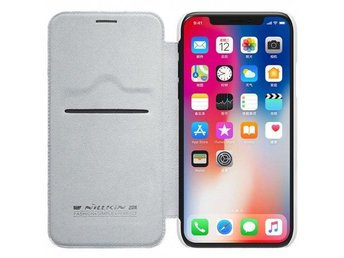Nillkin Qin FlipCover Apple iPhone X Färg: Vit