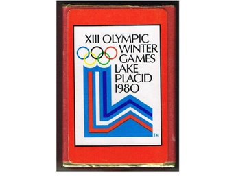 XIII OLYMPIC WINTER GAMES LAKE PLACID 1980 - komplett souvenirkortlek - Olympia