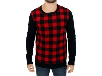 Costume National - Red black checkered sweater
