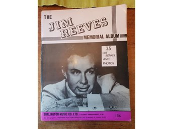 Tidning notbok Jim Reeves memorial album 1966
