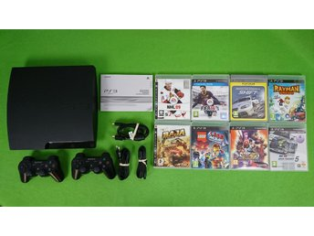 Playstation 3 Konsol med 149GB(160gb)  & 8 spel  Lego , Rayman , Street Fighter